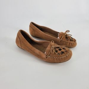 Minnetonka Beaded Suede Driving Moccasin 8.5